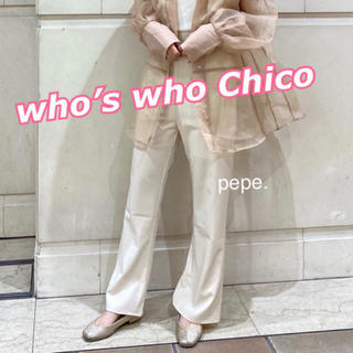 who's who Chico - who's who Chico ❤︎ 無地フレアパンツ スラックス 新品タグ付き
