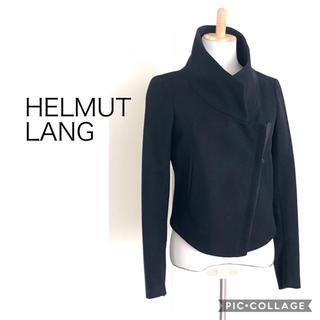 ヘルムートラング(HELMUT LANG)のHELMUT LANG 黒ライダースジャケット(ライダースジャケット)