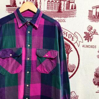 ウールリッチ(WOOLRICH)のアメリカ古着 ウールリッチ フランネルシャツ ヘビー ブロックチェック(シャツ)