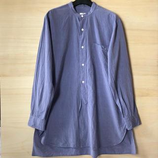 COMOLI - 17ss comoli サイズ2 バンドカラーシャツ サックス コモリ