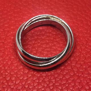 三連リング  シルバー925 スターリング 銀 シンプル指輪 ギフト トリニティ(リング(指輪))