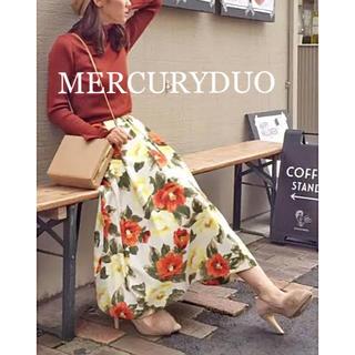 MERCURYDUO - ☆MERCURYDUO☆マーキュリーデュオ♡ペイントフラワーロングスカート♡