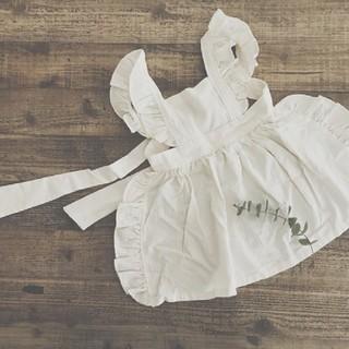 Caramel baby&child  - 韓国子供服 エプロンワンピース フリル プティマイン テータテート