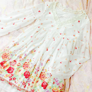LIZ LISA - リズリサ花柄シフォンワンピ