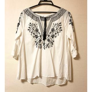 ikka - 刺繍シャツ