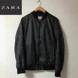 ZARA - 【ZARA】トロピカル柄 MA1 ブルゾン