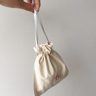 カスタネ(Kastane)の【cherry】natural 巾着 《silver angel》(ポーチ)