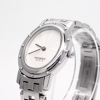 Hermes - 【HERMES】エルメス腕時計 'クリッパーオーバル ホワイト文字盤' ☆美品☆