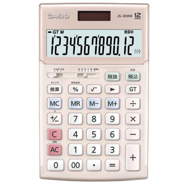 CASIO(カシオ)の【新品未使用】カシオ 本格実務電卓 12桁 ピンク インテリア/住まい/日用品のオフィス用品(オフィス用品一般)の商品写真