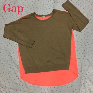 ギャップ(GAP)の美品 ギャップ GAP 小さいサイズ  春トップス 異素材  カットソー(カットソー(長袖/七分))