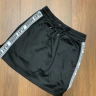 WEGO - ラインスカート 黒 freeサイズ