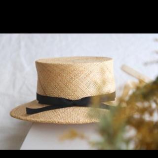 ネストローブ(nest Robe)のaoさま専用です*ベルレッタ berretta 麦わら帽子(麦わら帽子/ストローハット)