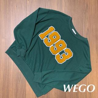 WEGO - トレーナー グリーン freeサイズ