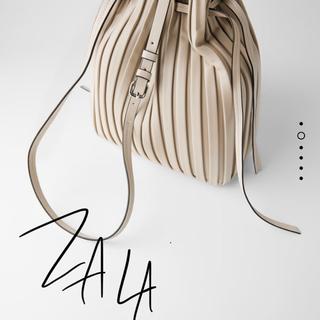 ZARA - ザラ  プリーツ加工 バッグ 新品未使用品