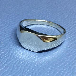 印台 シルバー925リング  シグネット ハンコ 小ぶり ユニセックス(リング(指輪))