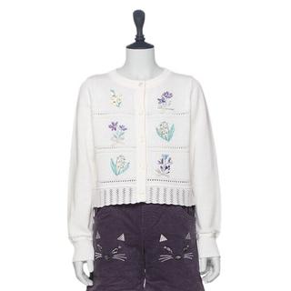 アナスイミニ(ANNA SUI mini)の新品 アナスイミニ お花刺繍カーディガン(カーディガン)