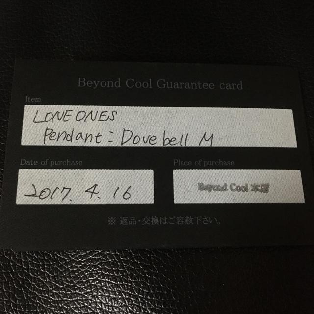 LONE ONES(ロンワンズ)のロンワンズ ドーヴベル M ギャランティ ネックレス シルバー925 メンズのアクセサリー(ネックレス)の商品写真