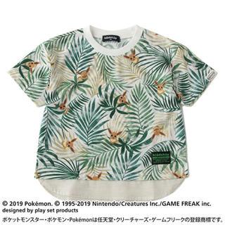 クレードスコープ(kladskap)の新品 クレードスコープ ポケモンコラボ イーブイ総柄Tシャツ 100(Tシャツ/カットソー)