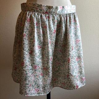 オプティチュード(Optitude)のフラワープリント(花柄)miniスカート(ミニスカート)