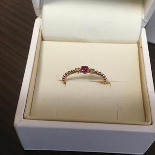 サマンサティアラ(Samantha Tiara)のサマンサ k18  ルビー ダイヤリング(リング(指輪))