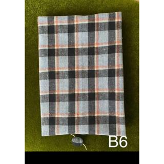 《B6 サイズ対応》タータンチェック(ブルー)柄  ブックカバー(ブックカバー)