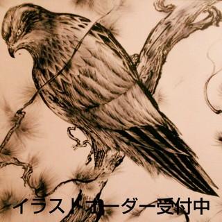 鳥のイラストお描き致します🐣(ウェルカムボード)