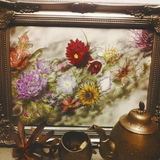 🌹花のイラストお部屋に🌹(ウェルカムボード)
