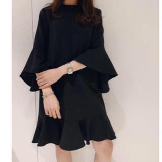 エストネーション(ESTNATION)の美品 YOKO CHAN ヨーコチャン Flared-sleeve Dress (ひざ丈ワンピース)