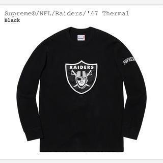 シュプリーム(Supreme)のSupreme®︎/NFL/Raiders/'47 Thermal レイダース(Tシャツ/カットソー(七分/長袖))