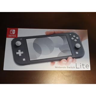 ニンテンドースイッチ(Nintendo Switch)の【即日発送】 Nintendo Switch Lite 本体 グレー 新品(家庭用ゲーム機本体)