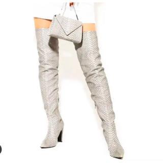 イエローブーツ(Yellow boots)の#YELLOドラゴンスキンロングブーツ(ブーツ)
