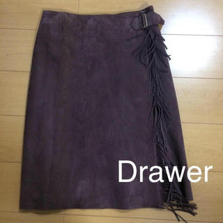 Drawer - 美品 【 Drawer 】 ドゥロワー 牛革 スカート 巻きスカート M〜 L