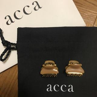 acca - acca ミニミニクリップ(キャメル)