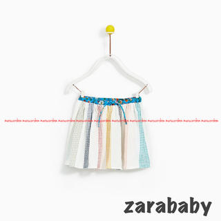 ZARA KIDS - zarababy ザラベビー マルチカラー 花柄 ステッチ 刺繍 スカート 92
