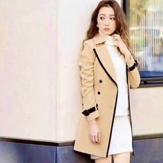 rienda - 美品 バイカラー ロングコート スプリングコート