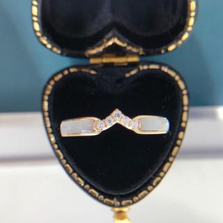 シェル ダイヤモンド リング(リング(指輪))