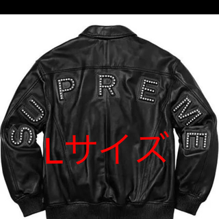 Supreme - Supreme Studded Arc Logo Leather Jacket