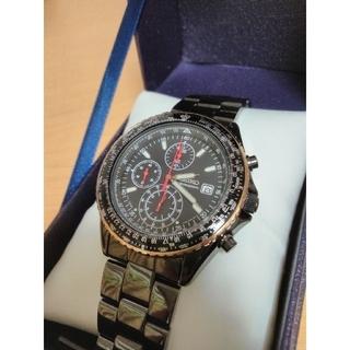 セイコー(SEIKO)の【電池新品】 SEIKO 10BAR パイロットクロノグラフ 逆輸入 日本未発売(腕時計(アナログ))