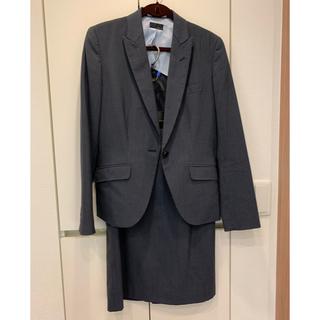 THE SUIT COMPANY - スーツ上下 スカート ネイビーストライプ 9号 春夏 家で洗える
