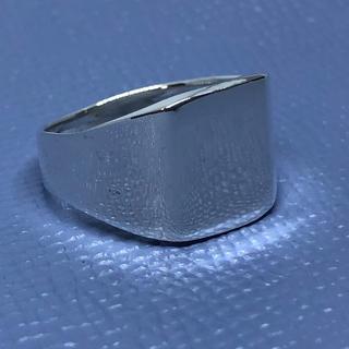 印台シルバー925リング銀シグネット指輪スターリングSILVER925ギフト四角(リング(指輪))