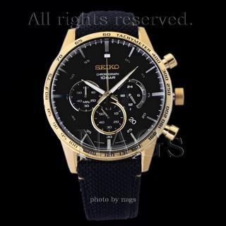 セイコー(SEIKO)の【新品度98%】SEIKOクロノグラフクオーツ 50周年記念GOLD(腕時計(アナログ))