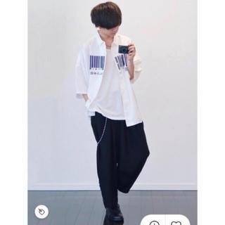 シャリーフ(SHAREEF)の【人気完売品】SHAREEF バーコード シャツ 18SS(シャツ)