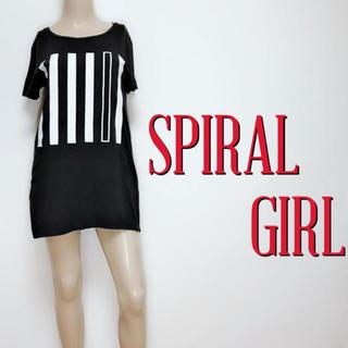 スパイラルガール(SPIRAL GIRL)の爆安♪スパイラルガール ルーズシルエットTシャツ♡スライ バックス(Tシャツ(半袖/袖なし))