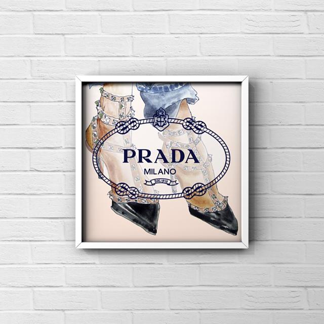 値下げ アートポスター フレーム付き A4 ハンドメイドのインテリア/家具(アート/写真)の商品写真