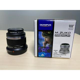 オリンパス(OLYMPUS)のOLYMPUS M.ZUIKO DIGITAL 45mm F1.8 ブラック(レンズ(単焦点))