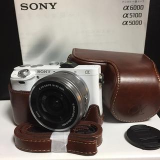 SONY - 新品ケース★Wi-Fi★高画質フルHD★SONY α6000 ミラーレス★白&黒