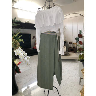 Lily Brown - リリーブラウン☆ツイードラップスカート