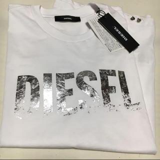 DIESEL - DIESEL メタリック ロゴTシャツ