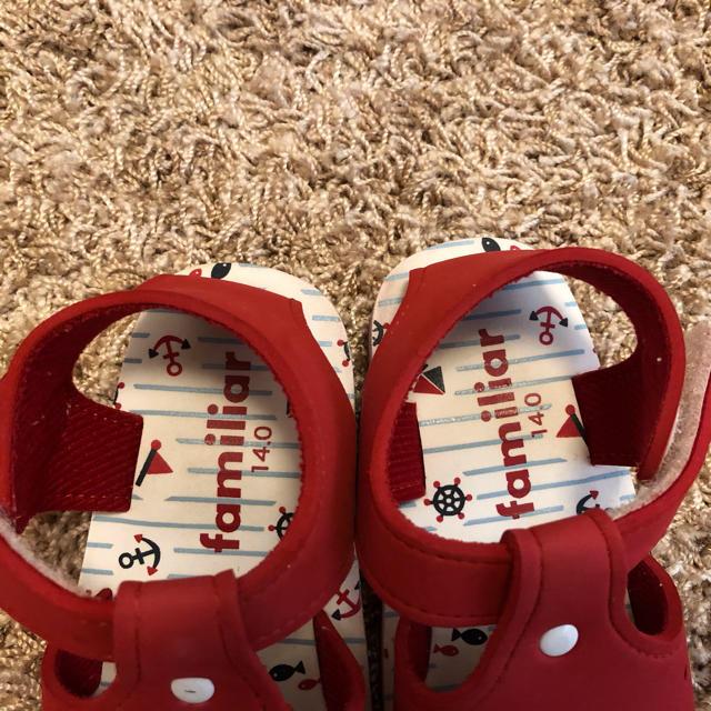 familiar(ファミリア)の♪美品♪ ファミリア サンダル 14㎝ キッズ/ベビー/マタニティのベビー靴/シューズ(~14cm)(サンダル)の商品写真