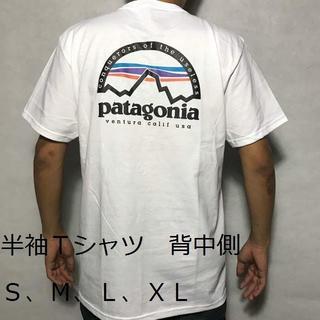 patagonia - patagonia パタゴニアT 半袖T シャツ 番号PS04 マウンテン 白
